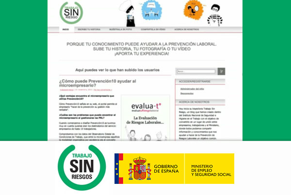 "Spanish Government | Video Tutorial ""Trabajo sin riesgo"""